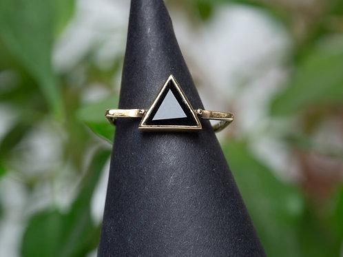 Ring Onyx Messing