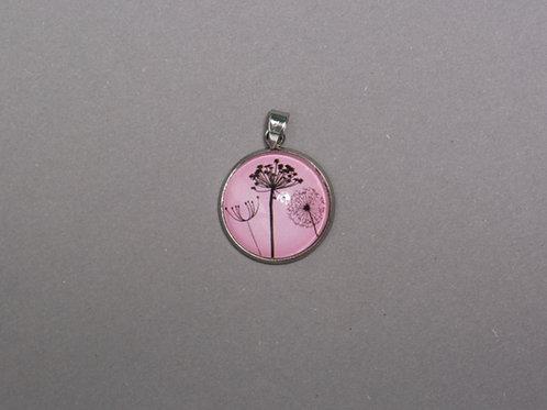 Halskette Pusteblume Rosa