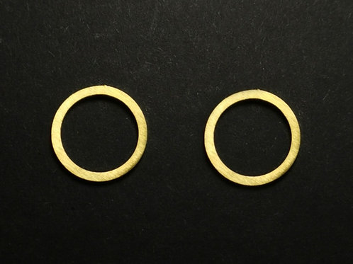 Ohrstecker Ring, groß