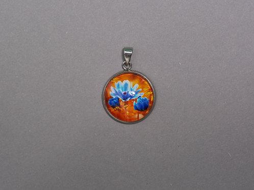 Halskette blaue Blume