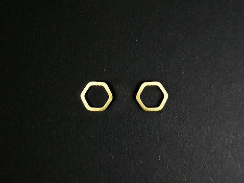 Ohrstecker Sechseck klein