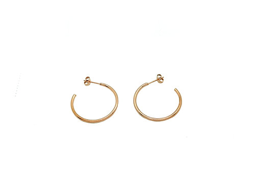 30mm rose gold hoop earrings