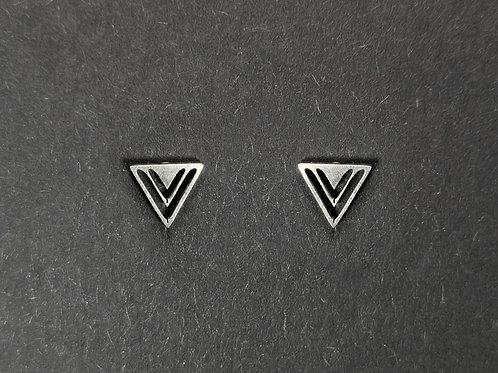 Ohrstecker Dreifache Dreiecke