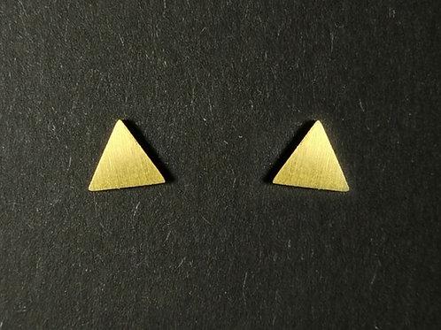 Pendientes Triangulares de dos tonos, completos