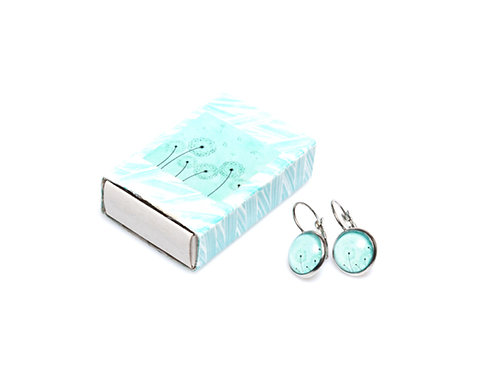Dandelion earrings 2, turquoise