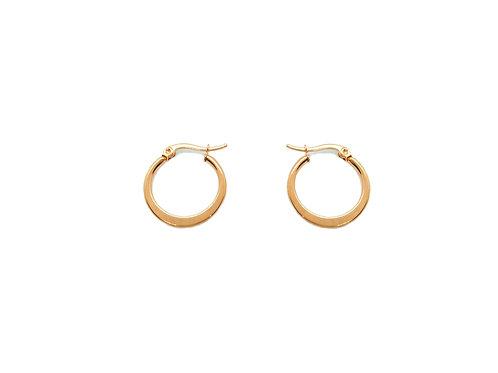 Hoop earrings 20mm rose gold