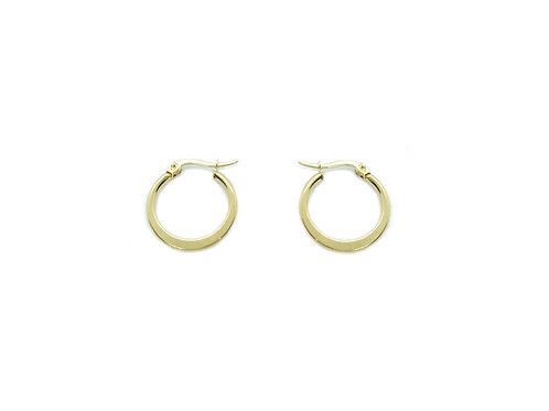 Hoop earrings 20mm gold