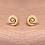 Thumbnail: Spiral stud earrings