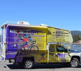 Truck camper, lake Tahoe