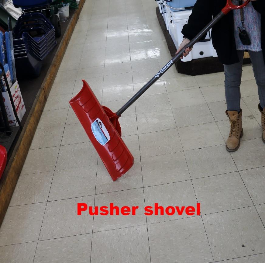 Pusher shovel