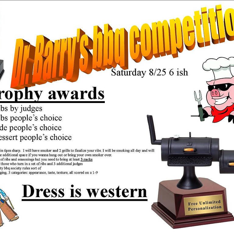 Dr. Barry's BBQ competition