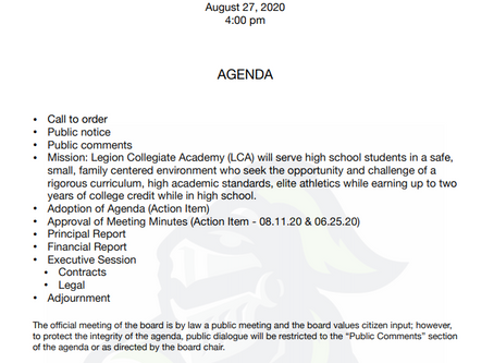 Board Meeting 8/27/2020