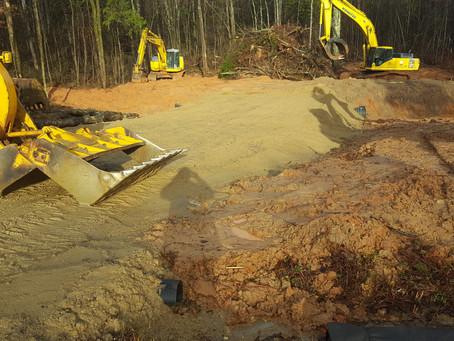 Construction has begun.