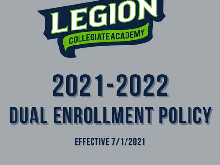 2021-2022 Dual Enrollment Policy