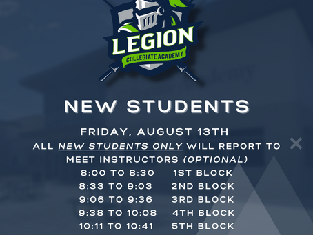 Attention New Students