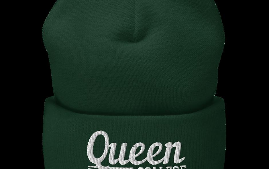 Queen College Cuffed Beanie