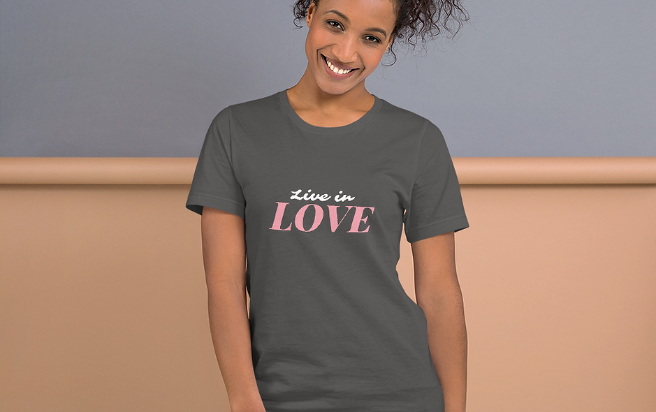 Live In Love Short-Sleeve Unisex T-Shirt