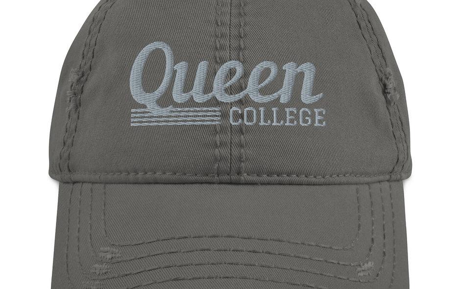 Queen College Distressed Dad Hat