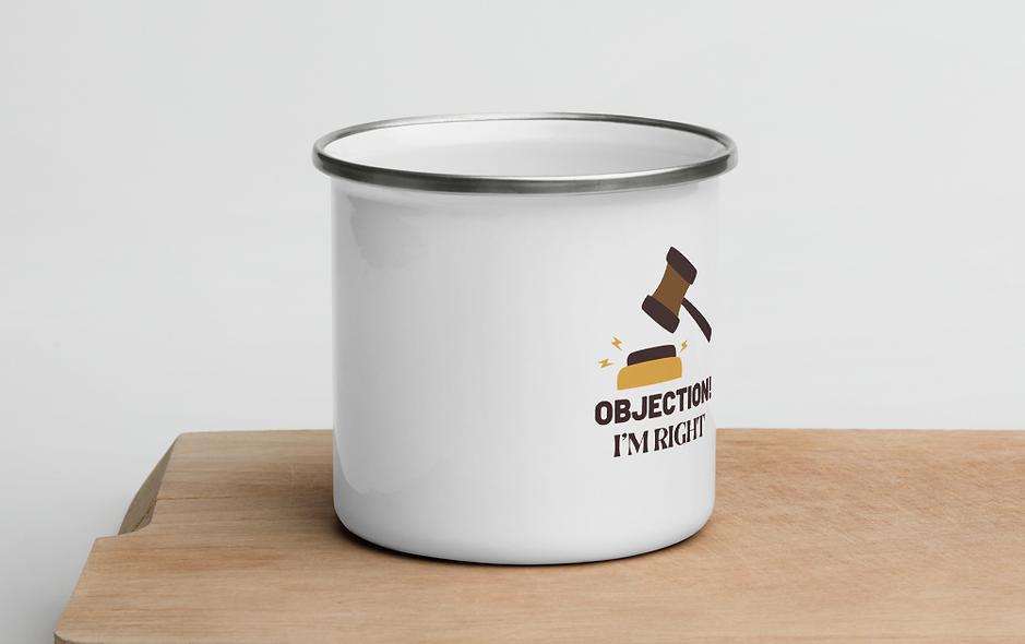 Objection! I'm Right Enamel Mug