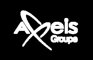 Logo Axeis groupe blanc