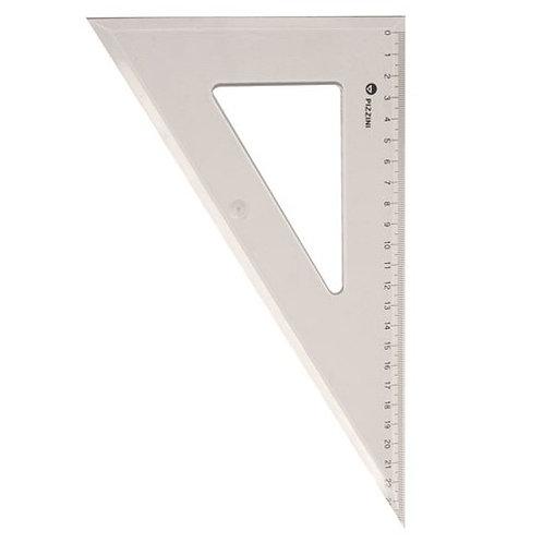 Escuadra Pizzini x 25 cm. art. 3722 cristal