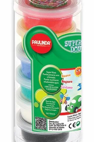 Masa Paulinda super dough tubo 6 colores x 1 u.