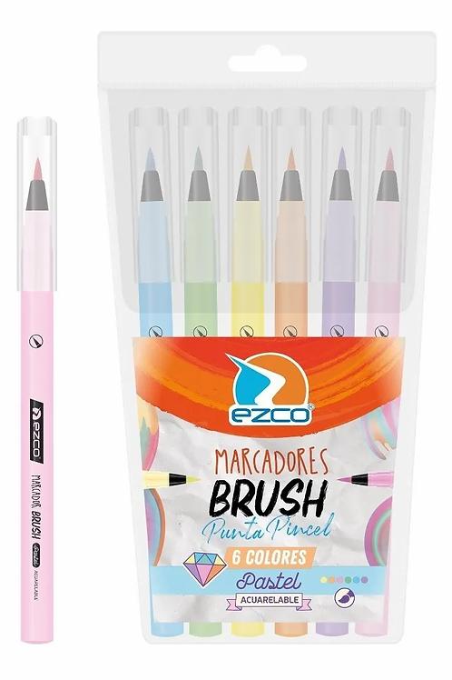 Fibras Ezco x 6 u. Brush pincel pastel.
