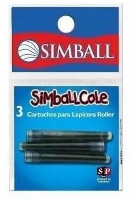 Cartuchos Simball x 3 u. p/ Rollercole x 1 u.