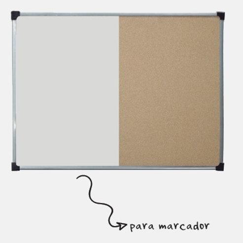 Pizarra Sakura Blanca / corcho 60 x 80 cm.