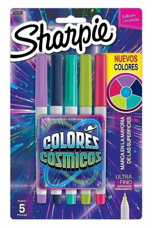 Marcador Sharpie cosmicos x 5 colores x 1 u.