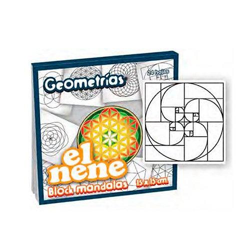 Block El Nene mandalas geometrias 15 x 15 cm. 24 hjs.