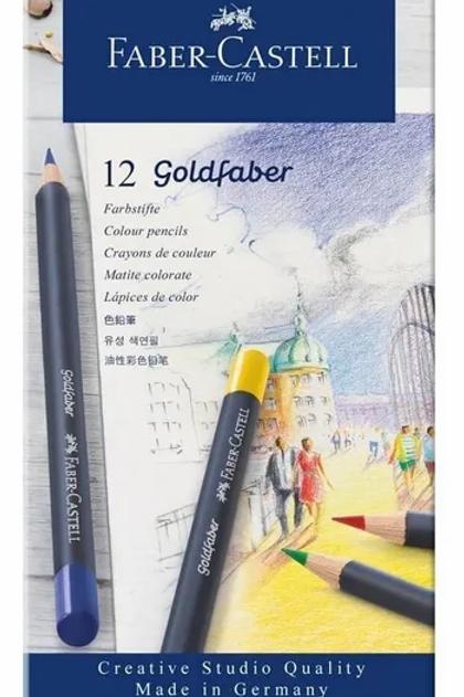 Lapices de Colores Faber lata 12 u. GoldFaber