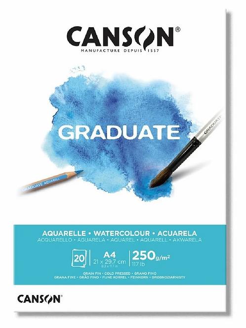 Block Canson graduate aqua A4 250 grs. 20 hjs.
