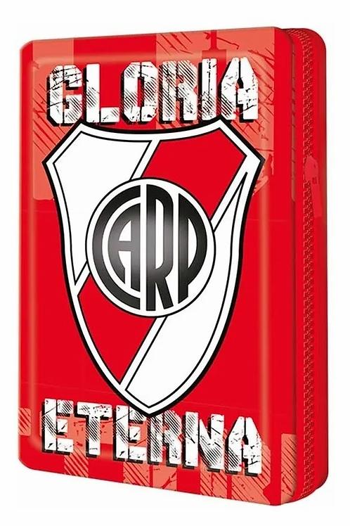 Cartuchera canopla 1 piso hojalata River Plate Mooving.