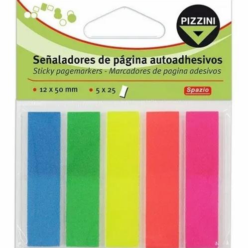 Señaladores Pizzini fluo x 125 u