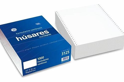 Formulario Continuo Husares 3525 12 x 25 cm liso