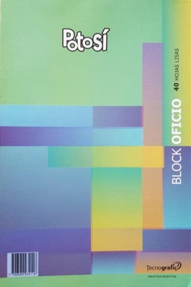Block Potosi of 40 hjs. lisas x 1 u.