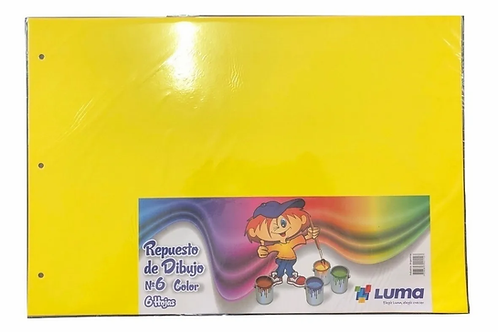 Hojas Canson Luma N°6 color x 6 hjs