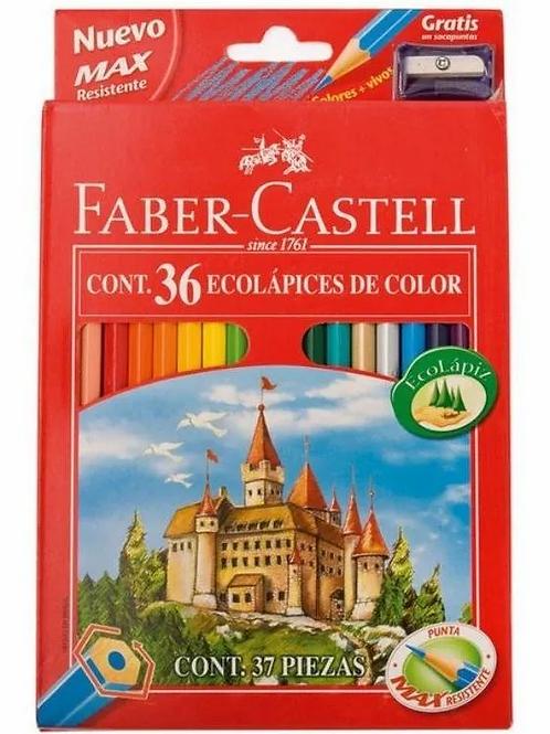 Lapices de Colores Faber Castell 36 largos + sacapuntas