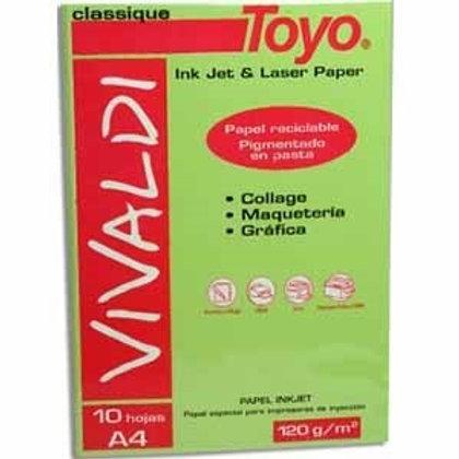 Papel Toyo A4 florida 10 hjs. x 1 u.