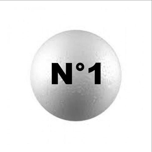 Esferas Telgopor N°1 N°2 x 1 u.
