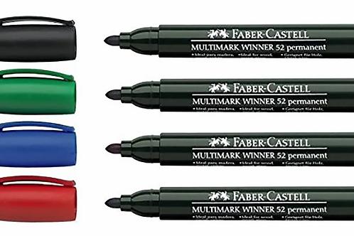 Marcador permanente Faber Castell 52 pta red x 1 u.