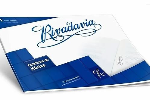 Cuaderno Rivadavia de Música t/flex 20 hjs