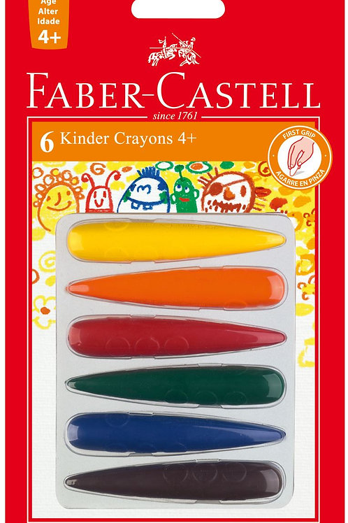 Crayones Faber Castell kinder Cohete 6 colores