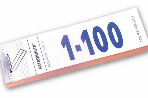 Talonario números 1-100 x 1 u.
