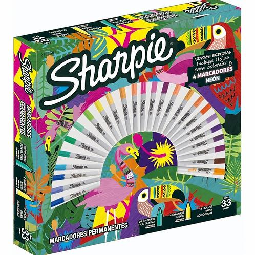 Marcador Sharpie ruleta 30 tropical x 1 u.