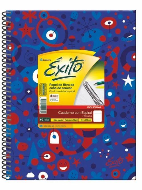 Cuaderno universitario Exito E7 60 hjs. fantasia x 1 u.