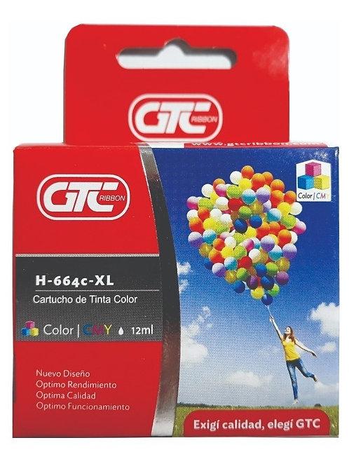 Cartucho GTC HP664 XL alt color x 1 u.