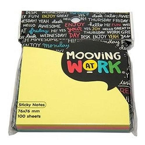 Notas autoadhesiva Mooving 76 x 76 cm. mixcolor 100 hjs. MAW