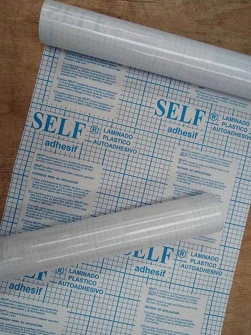 Papel contact transparente Self 45 cm. x 1 mtr.